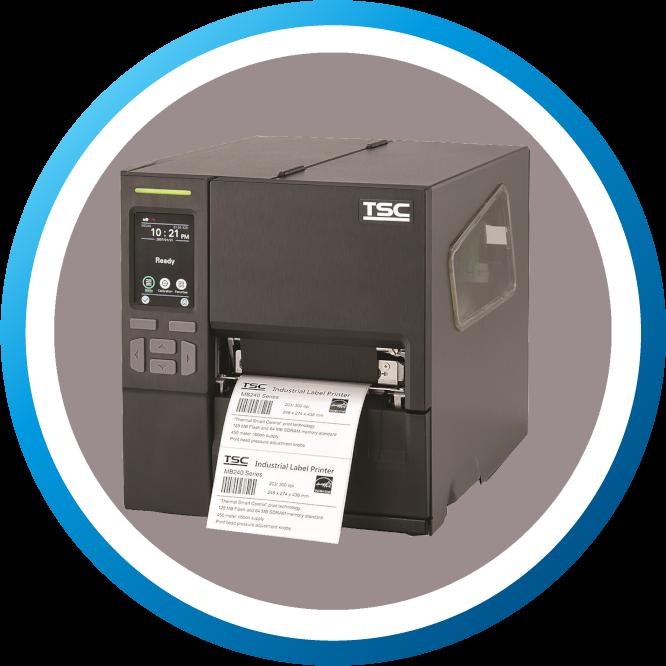 מדפסת מדבקות תעשייתית MB240T