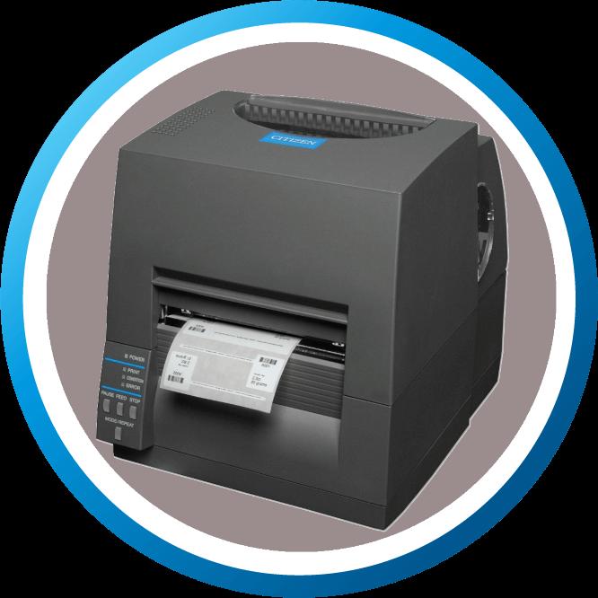מדפסת מדבקות שולחנית CLS621