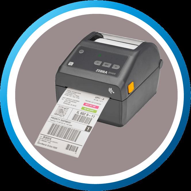 מדפסת מדבקות שולחנית ZD420D